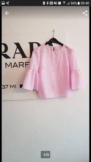 Zara Camicetta a blusa rosa pallido-rosa chiaro