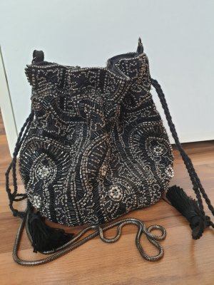 Pimkie Pouch Bag black-silver-colored
