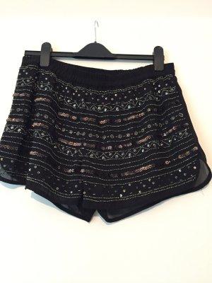 Perlenbestickte kurze Hose Shorts