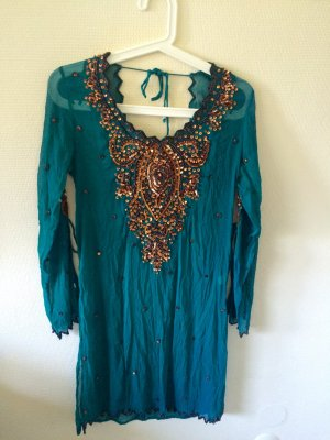 Caftan turquoise-cadet blue