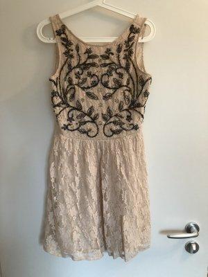 Zara Vestido de encaje multicolor