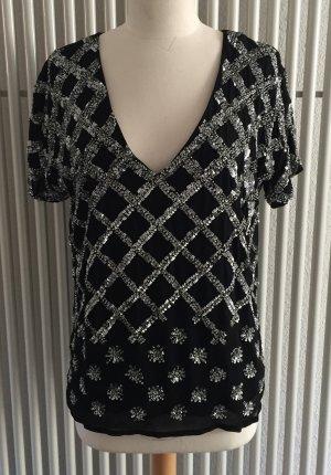 Holly Golightly Camicetta a blusa nero-argento