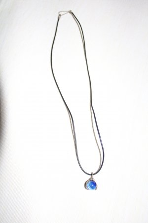 Pearl Necklace blue-black