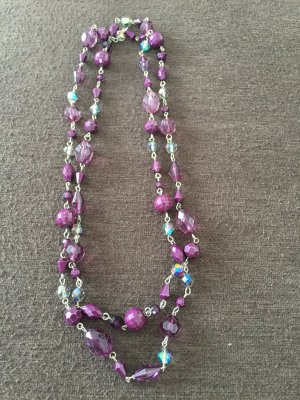 Pearl Necklace brown violet