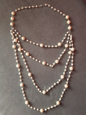 Pearl Necklace silver-colored-cream