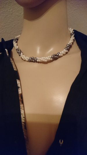 Pearl Necklace anthracite-oatmeal