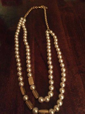 Perlenkette, doppelreihig