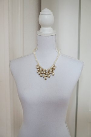 Perlenkette gold Halskette besonders originell extravagant elegant antik