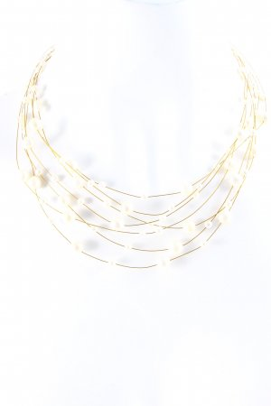 Pearl Necklace gold-colored-white elegant
