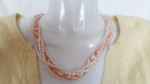 Perlenkette Halskette Collier Echte Süßwasserperlen in tollen Farben