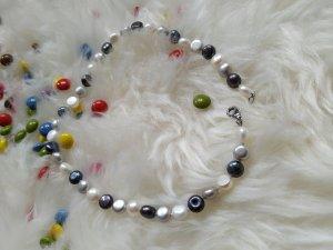 Perlenkette Kette Silberkette bunte Perlen Schmuck Halskette mit Süßwasserperlen