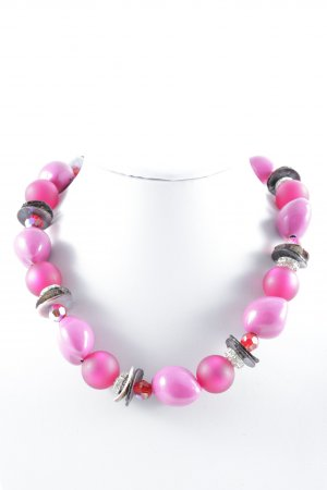 Collier de perles multicolore style extravagant