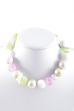 Collar de perlas multicolor estilo extravagante