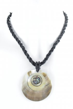 Collar de perlas multicolor estilo gitano