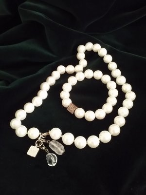 Pearl Necklace white-pink