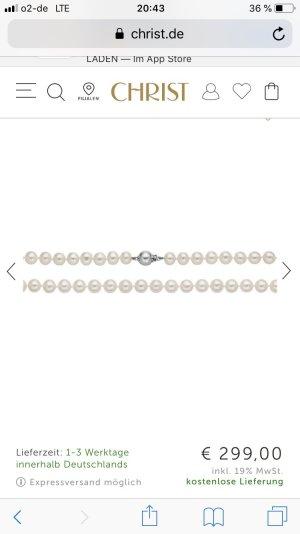 Perlenkette mit Verschluss aus Weißgold