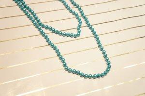 Perlenkette Modeschmuck türkis
