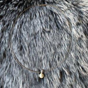 Perlenkette / Silberkette mit Strass und Perle