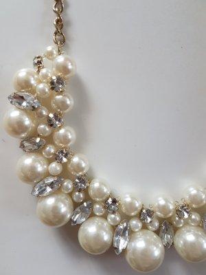 H&M Collar blanco-color oro