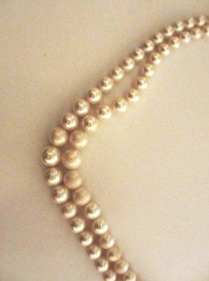 Perlenkette Vintage Modeschmuck 50s