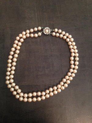Perlenkette Vintage Rosé
