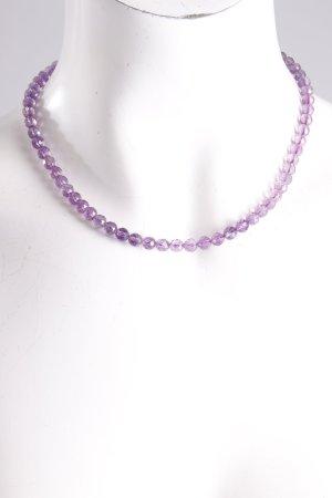 Perlenkette violett-gold