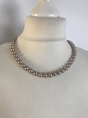 Pierre Lang Pearl Necklace silver-colored-dusky pink