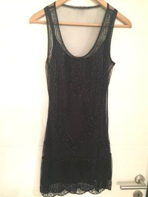 Perlenkleid in Schwarz