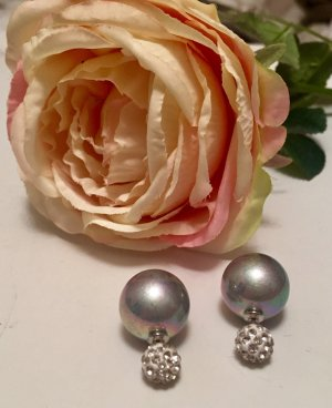 Bijou Brigitte Pearl Earring silver-colored