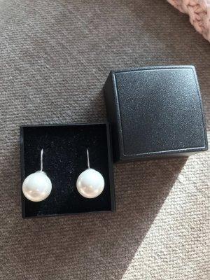 amor Boucles d'oreilles en perles argenté