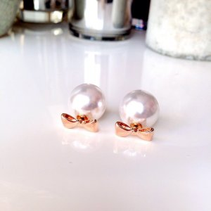 Earring white-rose-gold-coloured