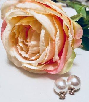 Perlenohrringe Silber