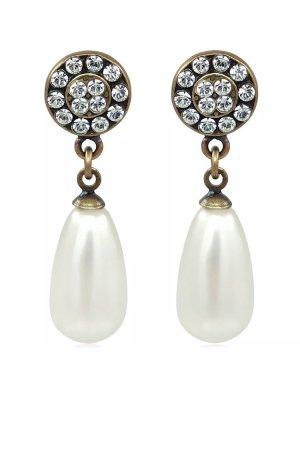 Swarovski Pendientes de perlas beige claro