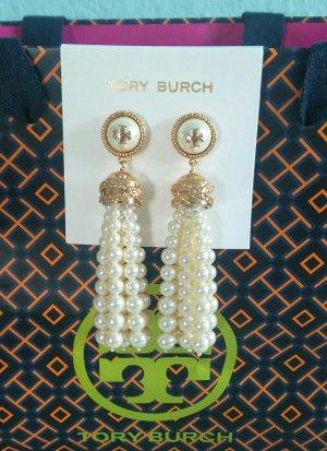 Tory Burch Boucles d'oreilles en perles blanc-doré
