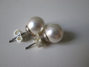 Bijou Brigitte Pearl Earring silver-colored-cream