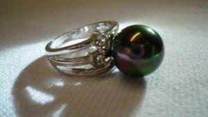 Zilveren ring veelkleurig Metaal