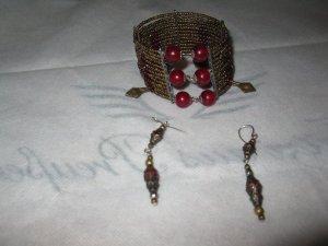 Perlenschmuck Set (Ohrringe+Armreif)von einer Künstlerin- schön, adeliger Styl