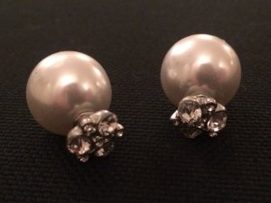 Perlenstecker mit Strass top Zustand