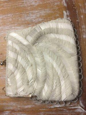 Perlentasche, sehr edel in weiß