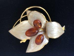 Perlmutt Brosche Blume