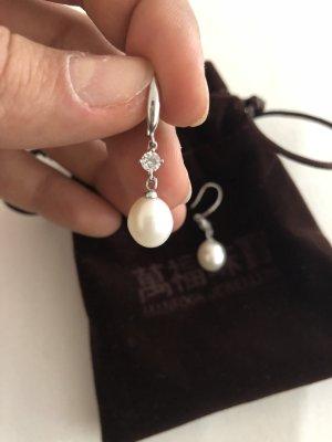 Orecchino d'argento argento-bianco Argento
