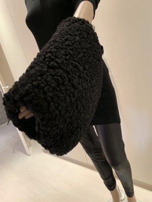 Persianer angefertigter Muff tasche schwarz einmal benutzt worden