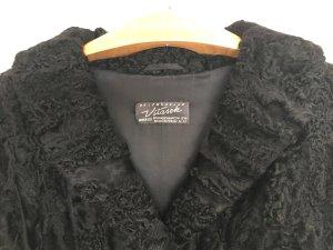 Abrigo de piel negro Pelaje