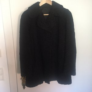 Vintage Veste de fourrure noir