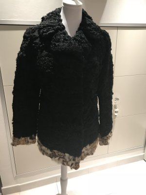 Persianer Jacke mit Pelzbesatz