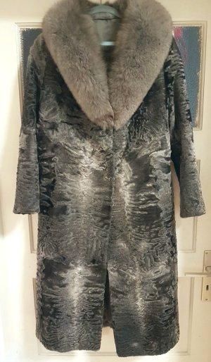 Persianer Mantel mit Luxus Pelz Weihnachten Weihnachtsgeschenk