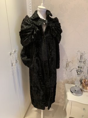 Persianer Mantel schwarz mit Maschen Scherbe gr 40