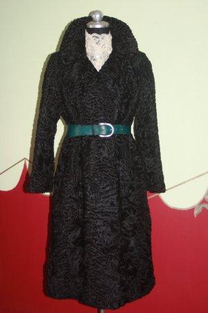Persianer Mantel Swakara Karakula 42 schwarz sehr edel
