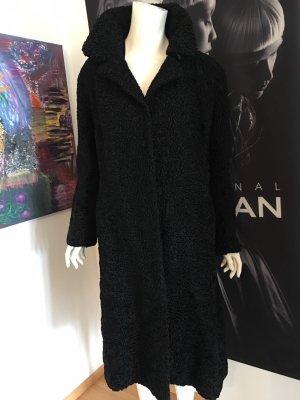 Barbara Schwarzer Abrigo de piel negro