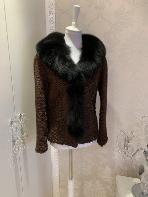 Fur Jacket brown-black